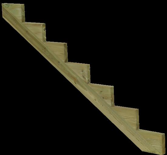 treppenwange f r 6 stufen massivholz chromfrei. Black Bedroom Furniture Sets. Home Design Ideas
