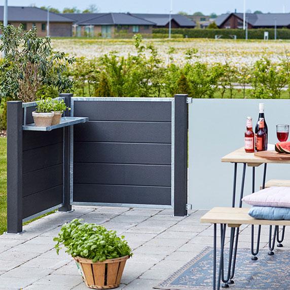 vedligeholdelsesfri terrasse hegn